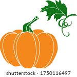 vector drawing of pumpkins.... | Shutterstock .eps vector #1750116497