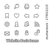 basic set of website icons for...