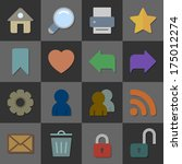 collection of internet icons ...