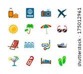 holidays journey design... | Shutterstock . vector #175012961
