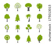 collection of natural green... | Shutterstock . vector #175013015