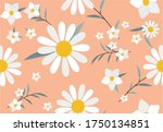 color daisy pattern design hand ...   Shutterstock .eps vector #1750134851