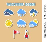 weather icons set  color...