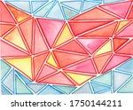 Abstract Watercolor Multicolor...