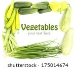 fresh green vegetables isolated ...   Shutterstock . vector #175014674