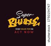 super bundle promotional... | Shutterstock .eps vector #1750154747