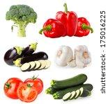 vegetables isolated on white | Shutterstock . vector #175016225
