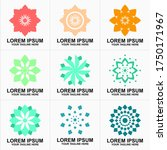 collection of natural logos... | Shutterstock .eps vector #1750171967