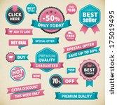 vintage vector business badge... | Shutterstock .eps vector #175019495
