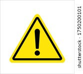 warning sign. exclamation ... | Shutterstock .eps vector #1750200101