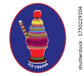 ice cream  clip art.in the... | Shutterstock .eps vector #1750229204