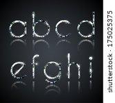 diamond alphabet letters   eps10 | Shutterstock .eps vector #175025375