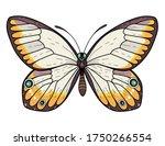 beautiful butterfly. vector... | Shutterstock .eps vector #1750266554