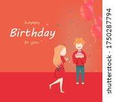 happy birthday  celebration... | Shutterstock .eps vector #1750287794