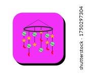 baby hanging toys vector... | Shutterstock .eps vector #1750297304