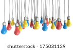 a group of regular hanging... | Shutterstock . vector #175031129