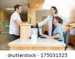 male patient with doctor and... | Shutterstock . vector #175031525