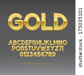 gold font and numbers  eps 10... | Shutterstock .eps vector #175035101