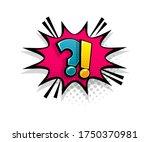 comic text question on speech...   Shutterstock .eps vector #1750370981