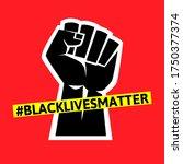 black lives matter protest... | Shutterstock .eps vector #1750377374