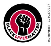 black lives matter protest... | Shutterstock .eps vector #1750377377
