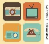 retro lifestyle over cream... | Shutterstock .eps vector #175038491