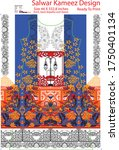 modern salwar kameez artwork... | Shutterstock .eps vector #1750401134