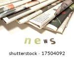 newspapers | Shutterstock . vector #17504092