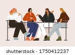 girls conversation. bussiness... | Shutterstock . vector #1750412237