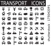 transport icons | Shutterstock .eps vector #175042091
