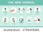 infographic the new normal in... | Shutterstock .eps vector #1750445681