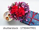 Greeting Card With A Bouquet Of ...