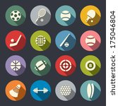 sport icon set | Shutterstock .eps vector #175046804