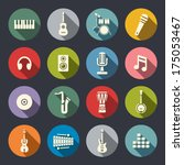 music icon set | Shutterstock .eps vector #175053467