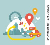 illustration of an urban life... | Shutterstock .eps vector #175060601
