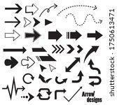 simple vector arrow design set | Shutterstock .eps vector #1750613471