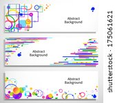 set of colorful banners for... | Shutterstock .eps vector #175061621
