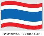 waving flag of thailand vector... | Shutterstock .eps vector #1750645184