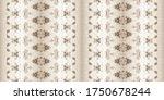 dirty rustic brush. sepia ikat. ... | Shutterstock . vector #1750678244