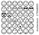 smile vector icons  different... | Shutterstock .eps vector #175068005