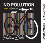 ride a bike typography for... | Shutterstock .eps vector #1750694021