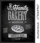 vintage bakery poster  ... | Shutterstock .eps vector #175069967