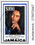 jamaica   circa 1995  a stamp... | Shutterstock . vector #175072667