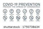 coronavirus covid19 prevention... | Shutterstock .eps vector #1750738634