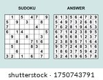 vector sudoku with answer 398.... | Shutterstock .eps vector #1750743791