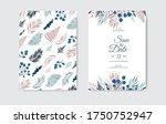 botanical wedding invitation... | Shutterstock .eps vector #1750752947