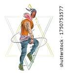 abstract man dancing... | Shutterstock .eps vector #1750753577