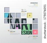 modern infographics squares... | Shutterstock .eps vector #175076051