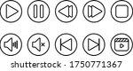 multimedia outlined black...   Shutterstock .eps vector #1750771367