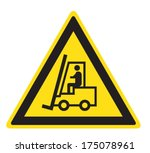 attention lift truck | Shutterstock .eps vector #175078961